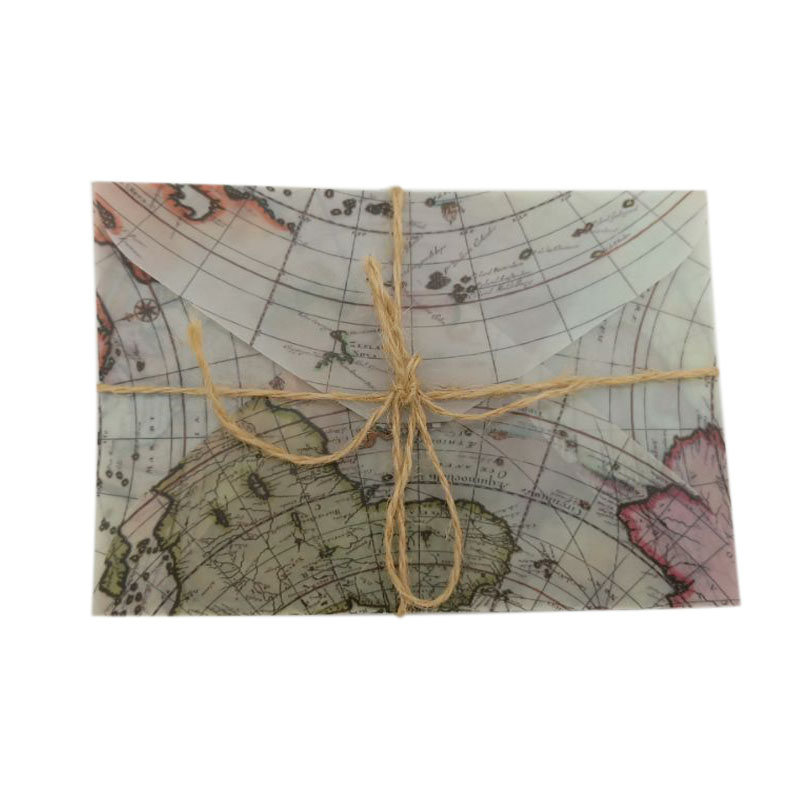 5 Pcs lot Vintage Sulfuric Acid Paper Envelopes Globe Map Postcard Invitation Letter Card Paper Bag Greeting Cards in Cards Invitations from Home Garden