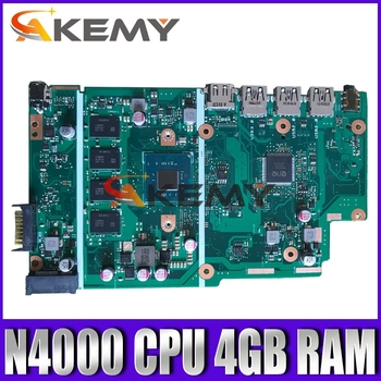For ASUS X540MA Laptop Motherboard X540M A540M  Motherboard W/N4000 CPU 4GB RAM