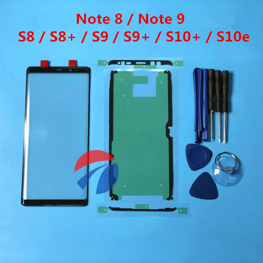 Replacement Outer Glass For Samsung Galaxy Note 8 Note 9 S8 S9 S9+ S10 Plus S10e LCD Touch Screen Front Glass Outer Lens + Tools