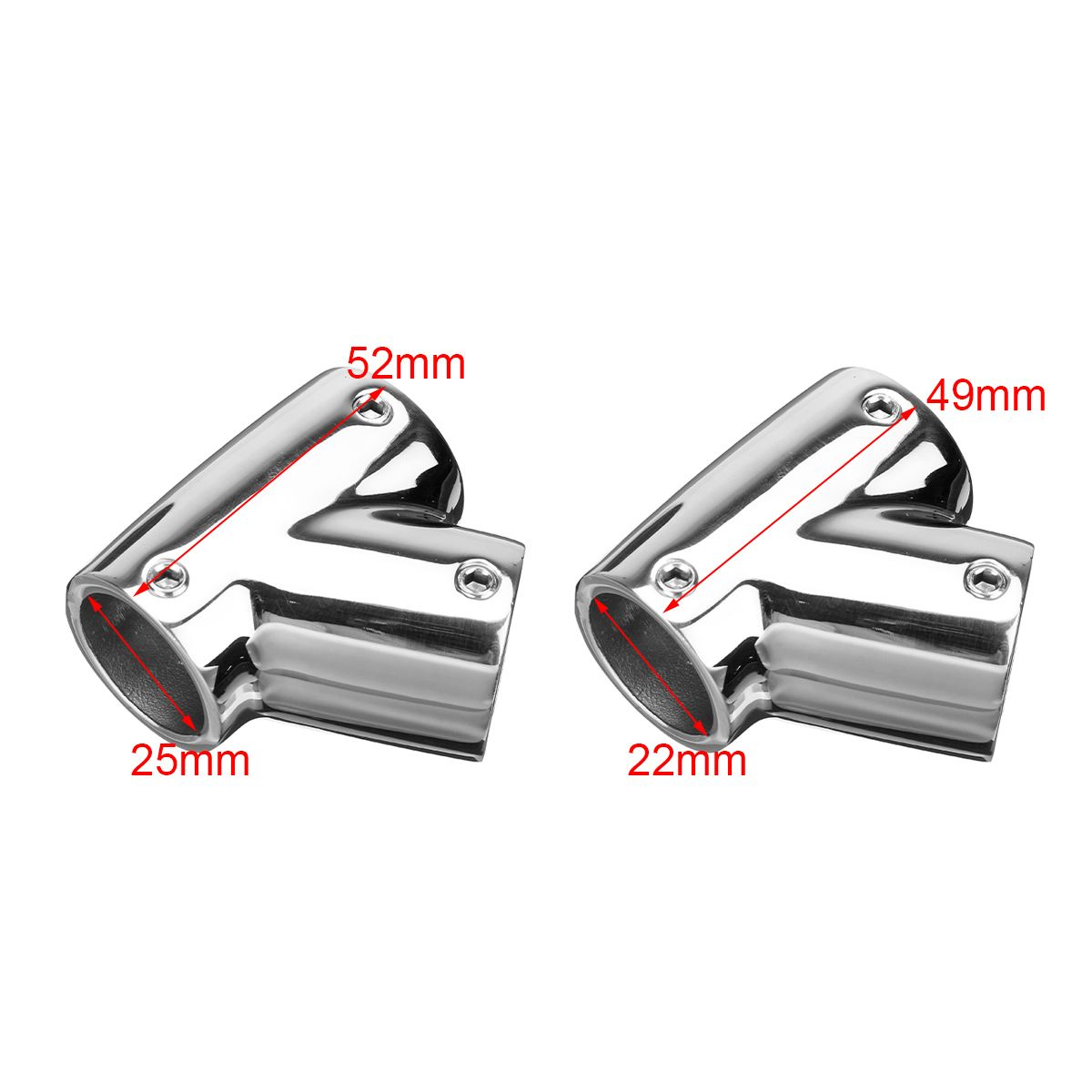 Audew Pipe Connector 316 Stainless Steel Marine Boat Yacht Railing Handrail Pipe Tube Connector Clamp 22mm 25mm Marine Hardware