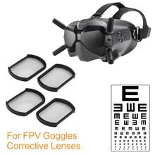 Düzeltici lensler dji fpv gözlük v2 düzeltici lens aksesuarları miyop lensler 200/300/400/500/800 derece