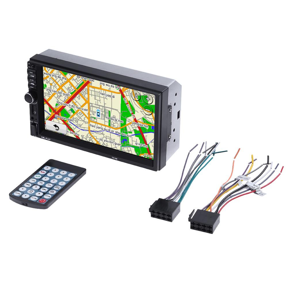 7 inch HD 1080P MP5 Player LCD Touch Screen Digital Display Bluetooth MP3 Card Player USB 2din Car Backup Monitor image