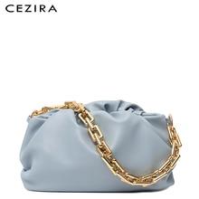 Handbags Cloud-Bag Clutch Purse Chain Vegan Leather Women Fashion Luxury Classic CEZIRA