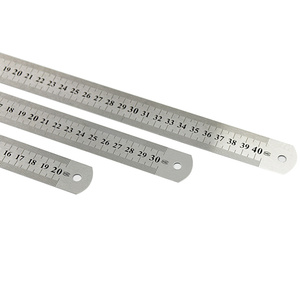 3Pcs Stainless Steel Ruler Metal Ruler for Engineering School Office Drawing 20cm/30cm/40cm