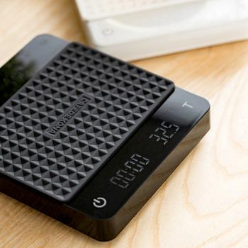 CAFEDEKONA elektroniczna waga do kawy z podwójnym wyświetlaczem dwa rodzaje zasilaczy cyfrowa waga wlać na kawę skalę3kg tanie i dobre opinie jaffee Rectangle DIGITAL Wyświetlacz LED Baterii