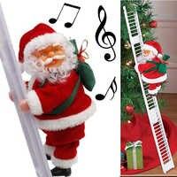 Рождественский Санта-Клаус, электрическая подвесная лестница, украшение для рождественской елки, забавные новогодние подарки для детей, ве...