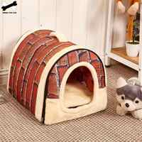 Pet Cave Dog House Bed Comfortable Print Stars Kennel Mat For Pet Puppy Winter Summer Foldable Cat Bed Pet Supply