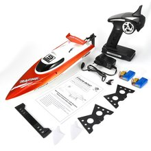 Feilun FT009 2.4G 4CH Water Cooling RC Racing Boat 30km/h Super Speed Electric Toy Remote Control Boats 2 Batteries EU