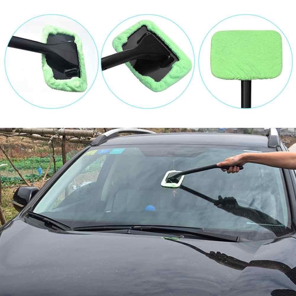 ستوكات أوتو مُنظف نوافذ مقبض طويل فرشاة غسيل السيارات خرقة زجاج النوافذ الأمامية ممسحة تنظيف السيارة فرشاة بالتفصيل العناية