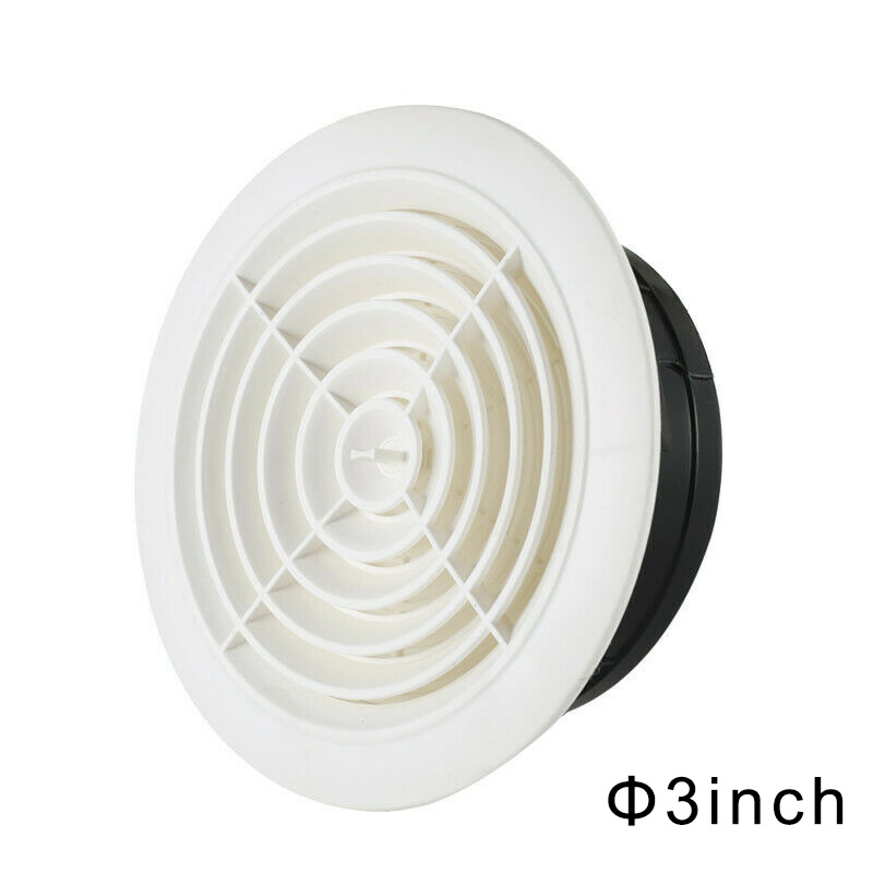 Air Vent Extract Valve Grille Round Air Vent ABS Louver Grille Cover Adjustable Exhaust Vent for Bathroom Office Ventilation LB8
