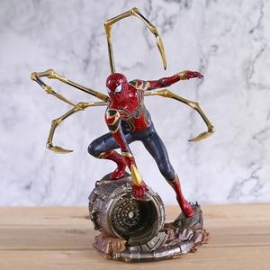 Image 2 - Marvel Avengers Unendlichkeit Krieg Eisen Spinne Statue Spiderman PVC Action Figure Sammeln Modell Superhero Spielzeug Puppe