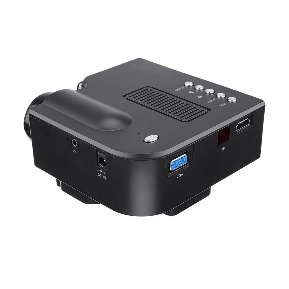 Low Power Mini VGA/USB/SD/AV/HDMI Portable Mini Digital LED Entertainment LCD Projector For Home Cinema Theater Drop Shipping