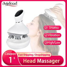 AGDOAD akıllı kafa baş masaj aleti USB şarj kablosuz kafa masaj cihazı stres Relax vücut geri masaj saç dökülmesini önler