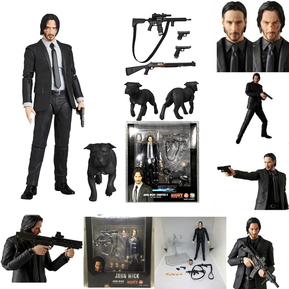 John Wick Action Figure Mafex 070 085 Model Toy Gift For Kids Action Toy Figures 11 Aliexpress
