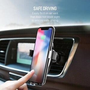 Image 4 - ROCK araç montaj Qi kablosuz araç şarj için iPhone X 8 artı hızlı kablosuz şarj pedi держатель для телефона