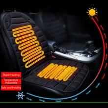 12V รถเบาะนั่งอุ่นอุ่นฤดูหนาวรถฝาครอบที่นั่งเก้าอี้เครื่องทำความร้อน Pad ไฟฟ้าอุ่นที่นั่งหมอนอิง
