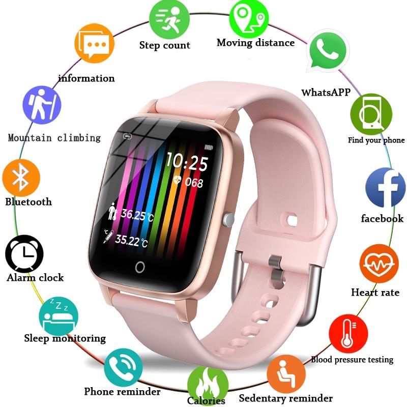 2021New חכם להקת שעון נשים גברים smartwatch פעילות Tracker קצב לב צג ספורט גבירותיי חכם שעון להקת גברים לxiaomi
