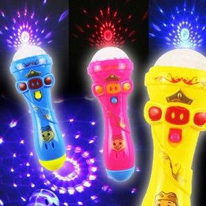 Juguetes musicales para niños, micrófono inalámbrico, juguete de iluminación, Mini altavoz, Karaoke, canto, Educación Temprana, Color aleatorio
