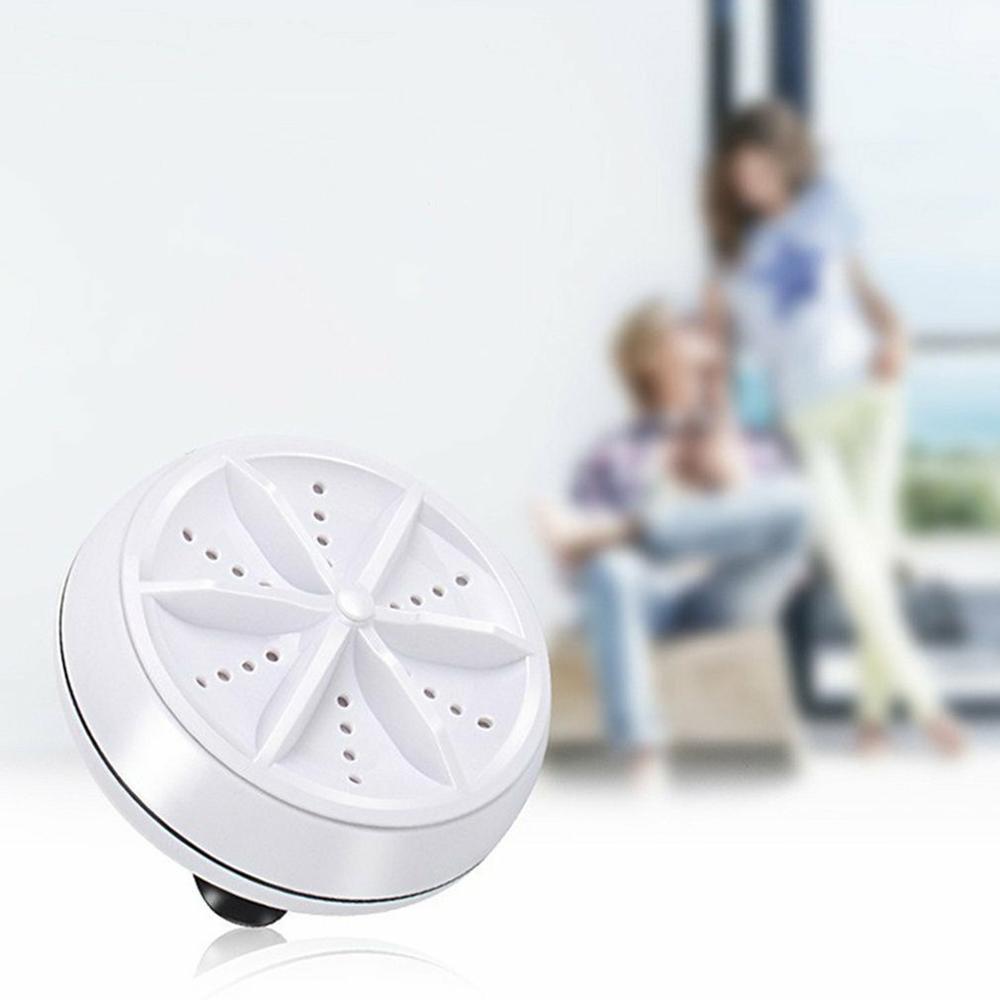 Ultrasonic Turbo Washing Machine Portable Travel Washer Air Bubble And Rotating Mini Washing Machine 4