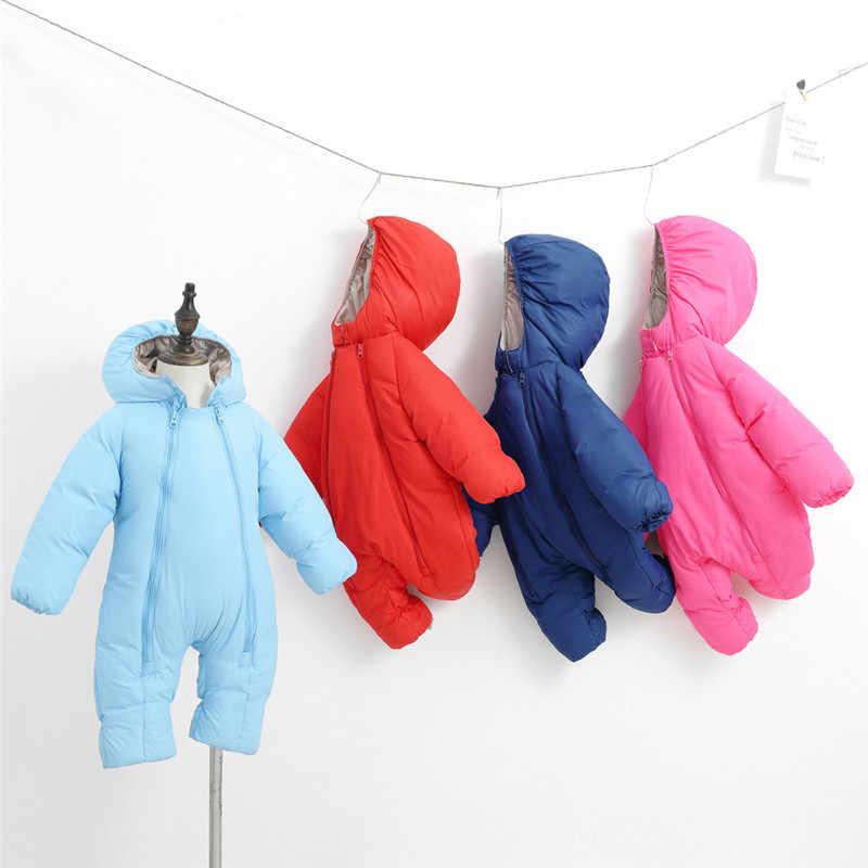Boys Girl Thick Coats Jacket Kid Zip Snowsuit Hoodie Romper Jumpsuit Outfit US