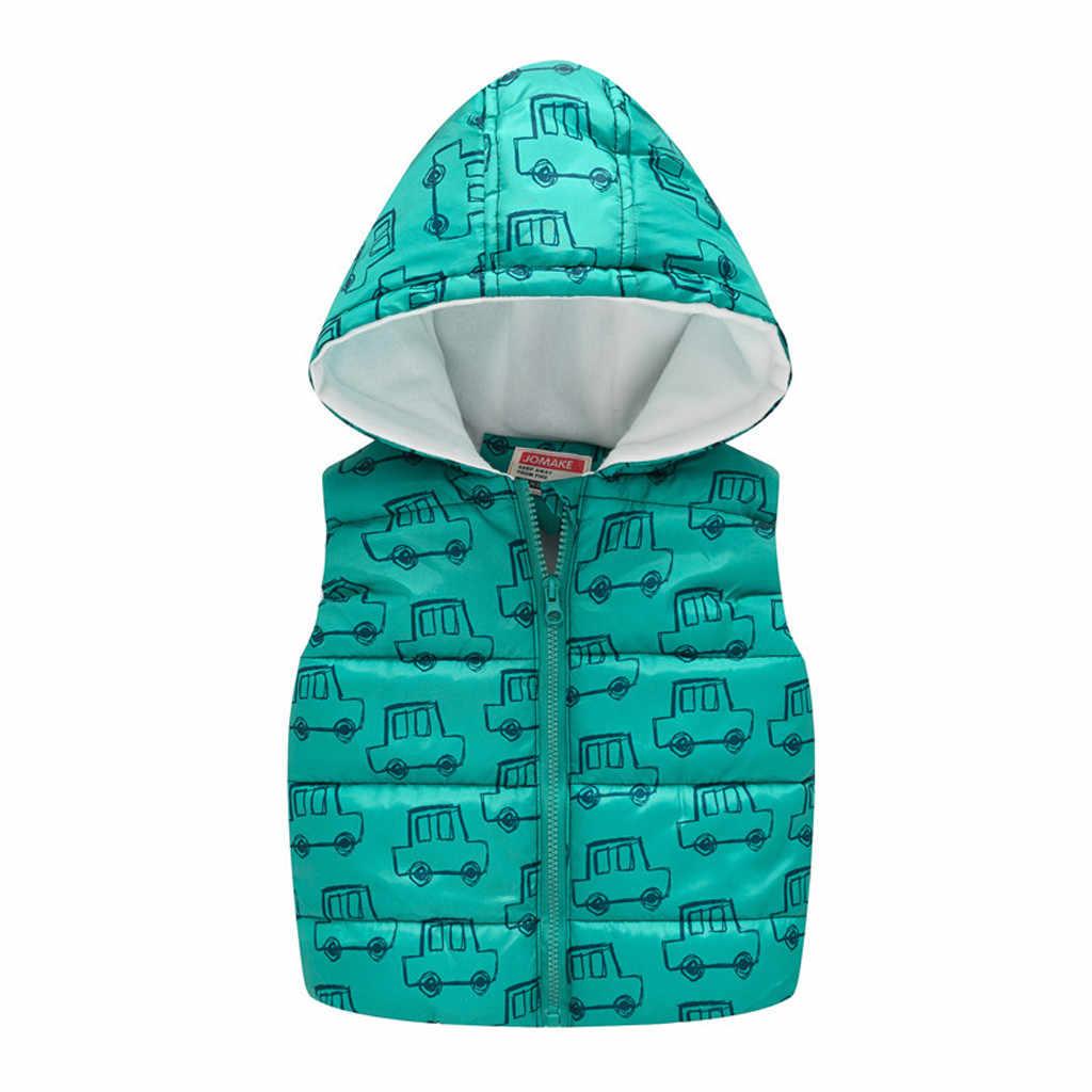 TELOTUNY baby boys Girl invierno más chaleco con capucha de terciopelo grueso chaleco abrigos chaqueta traje de nieve ropa de abrigo para niños ropa de abrigo ZA28