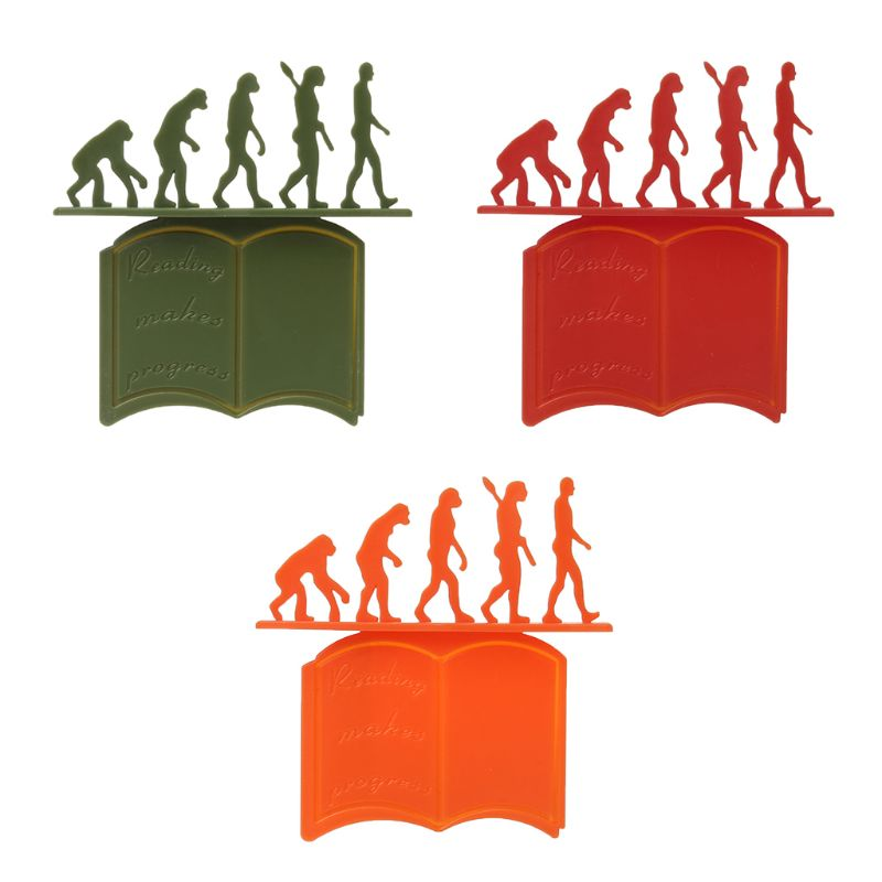 Creative Theory Of Evolution Bookmark 3D Silicone Reading Book Holder Stationery