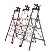 Folding Ladder Mobile-Stair Household Indoor Herringbone Carbon-Steel Multifunctional