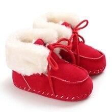 Зимние теплые Нескользящие повседневные кроссовки для маленьких девочек и мальчиков; прогулочная обувь с мягкой подошвой для малышей
