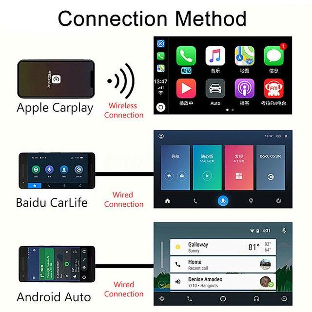 Carlinkit-Radio Carplay sans fil   Pour Apple Carplay Adaptador, USB Android Auto, jeu de voiture, Iphone lien miroir