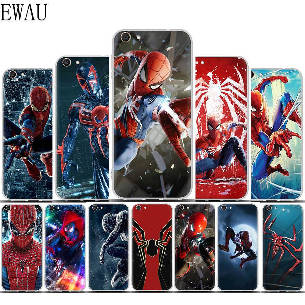 EWAU spider-man telefon etui na vivo Y53 Y81 V7 V9 V11 V15 Pro Y17 Y71 Y91 Y93 Y66 X9 Y11