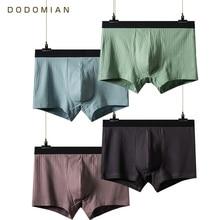 Yapmak ana iç çamaşırı erkekler lüks kemer yüksek kaliteli pamuk Boxer nefes 4 adet çok Boxer iç çamaşırı artı boyutu l 4XL