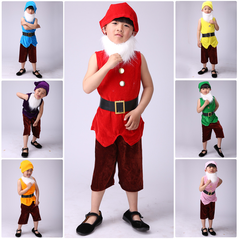 Performance Dance Costume Seven Dwarfs Halloween Costumes Children Prince Snow White Suit Fairy Tale Performance Clothing