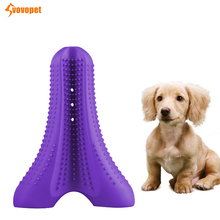 VOVOPET Pet Toothbrush Silicone Cleaning Mouth Teddy Doggy Pets  Chew Toy Oral Care Stick Small medium dog teeth toys
