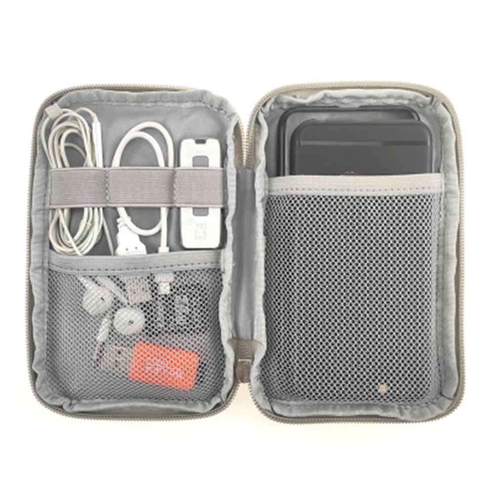 Mobile Phone Case Digital Gadget Device USB Cable Data Cable Organizer Travel Inserted Bag Storage Bag Travel Kit
