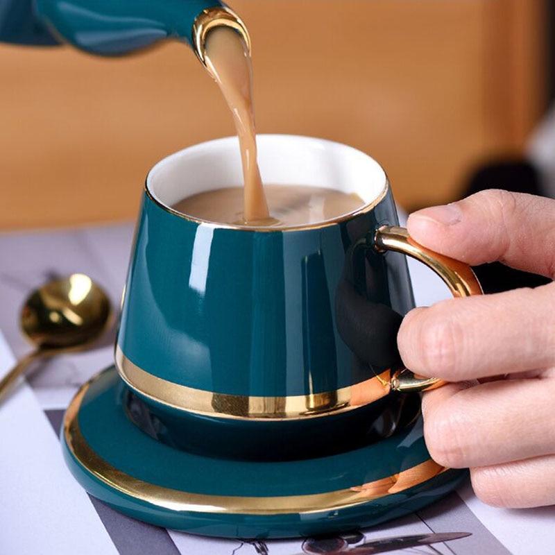 Gllead 180ml Ceramic Tea Cup Set Coffee Cups And Saucer European