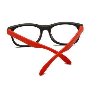 Image 3 - LongKeeper çocuklar Vintage UV400 gözlük yuvarlak gözlük çerçeve bilgisayar oyun şeffaf Lens Anti UV Anti mavi ışık perçin gözlük