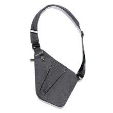 Сумки на одно плечо NewBring для мужчин, нейлоновые водонепроницаемые сумки через плечо, Мужская нагрудная сумка с защитой от кражи