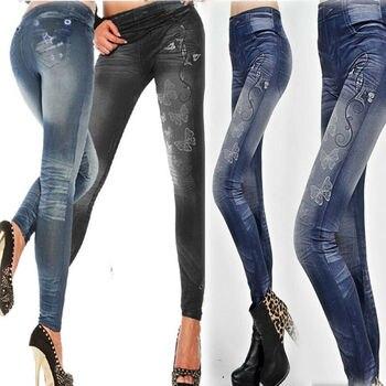 2020 Classic Jeans Stretchy Slim Jeans Sexy Women Denim Jeggins Skinny Embroidery Butterfly/Stars pr