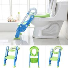Baby Potty Training Seat Children Potty With Adjustable Ladder Infant Baby Toilet Seat Toilet Training Folding Seat Supplies HWC