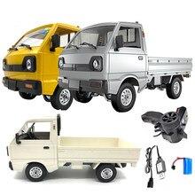 1pc wpl d12 rc caminhão 1:10 2wd simulação caminhão escovado escalada led luz on-road brinquedo de carro hobby elétrico para meninos crianças adultos