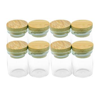 30x40mm 15ml mini szklane butelki z bambusa pokrywa uszczelniająca szklane słoiki cukierki szafran żywności proszek piasek słoiki bambusowe butelki Cap tanie i dobre opinie Jarvials Spersonalizowane dostosowywanie Szkło clear glass Bamboo Lid Multipurpose Storage Bottles Jars Leak proof 15ml (15CC)