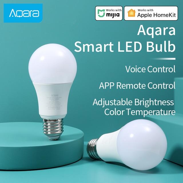 Aqara Smart bulb LED Light Zigbee connection Aqara hub Adjustable Color Temperature lamp work for HomeKit Xiaomi Mi home APP