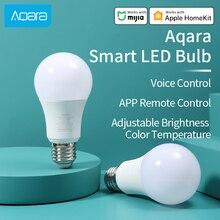 Aqara bombilla LED inteligente Zigbee, conexión Aqara hub, lámpara de temperatura de Color ajustable, funciona con la aplicación Xiaomi Mi home