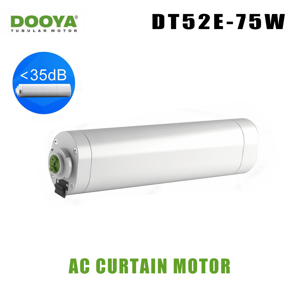 Dooya cortina de casa inteligente Cortina Elétrica Do Motor inteligente inteligente DT52E 75W Controle Remoto Casa Inteligente 220V casa inteligente sistema