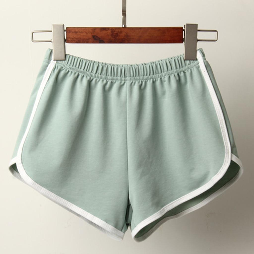 Sports Shorts Women Summer 2019 New Candy Color Fashion Skinny Shorts Casual Lady Elastic Waist Beach Correndo Short Pants 4
