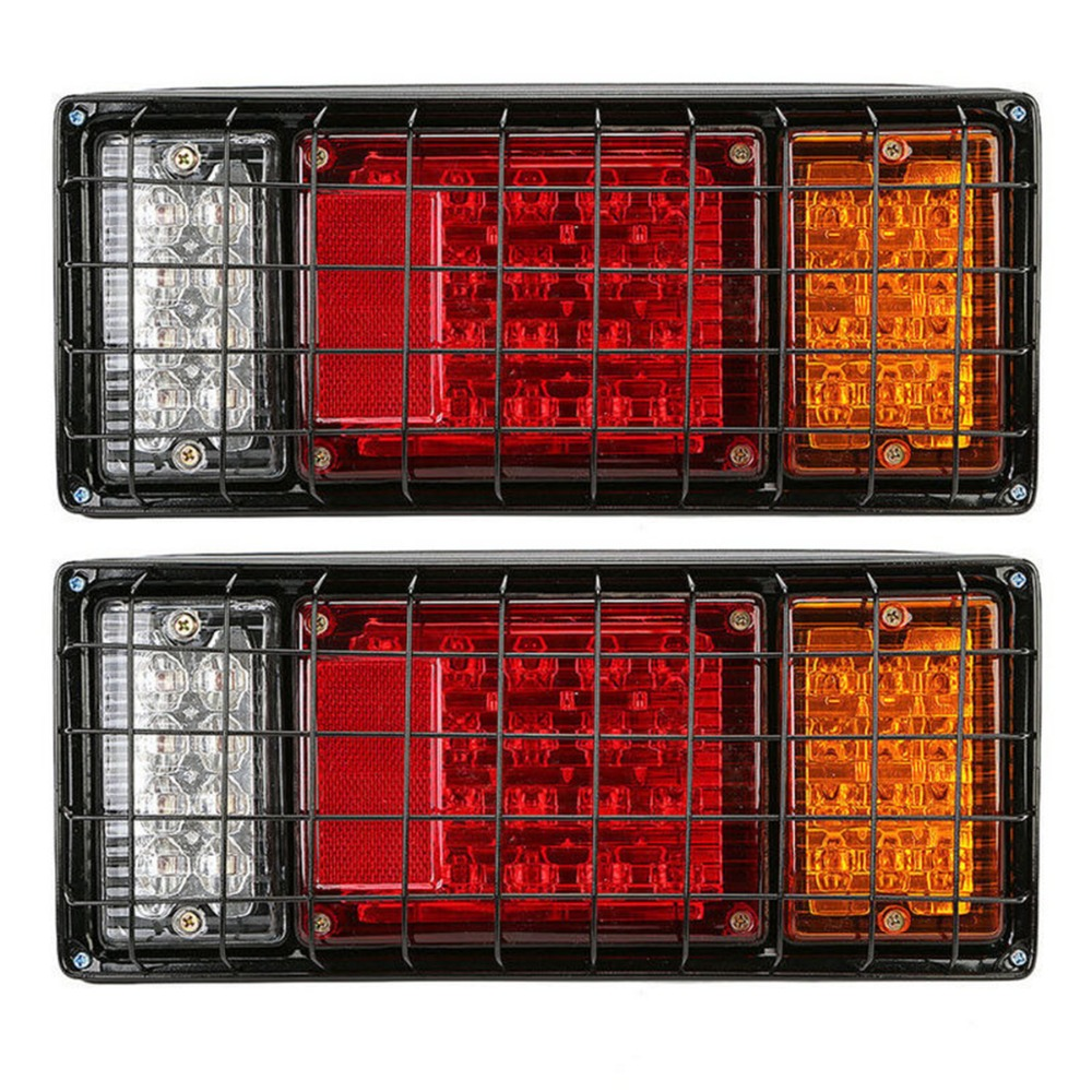 2pcs 12V Car Truck LED Rear Tail Light Warning Lights Rear Lamps Tailight Parts for most truck trailers caravas UTE buses vans image