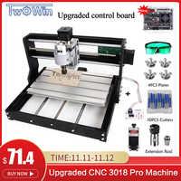 Mise à niveau CNC 3018 Pro GRBL contrôle bricolage mini CNC Machine 3 axes pcb fraiseuse bois routeur gravure Laser avec hors ligne