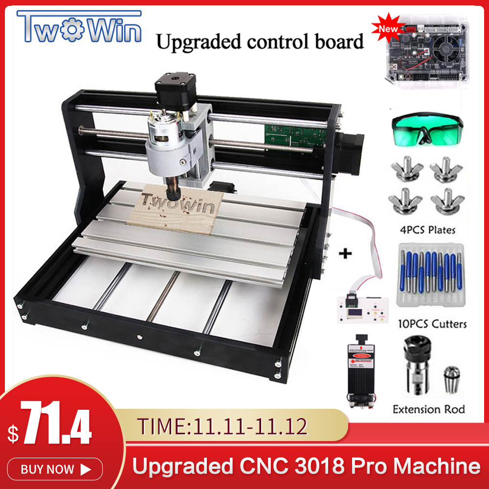 Upgrade CNC 3018 Pro GRBL Control Diy mini cnc Machine 3 Axis pcb Milling Machine Wood Router Laser Engraving with Offline