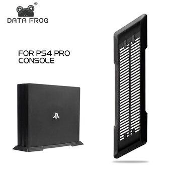 Soporte Vertical negro de la rana de datos para PS4 PRO proteger el soporte de la Base de refrigeración para los accesorios de la consola de juegos PS4 Pro