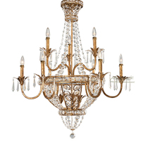 Retro gold chandeliers classic lighting american K9 crystal chandelier candle for stairwell church foyer french kitchen lighting